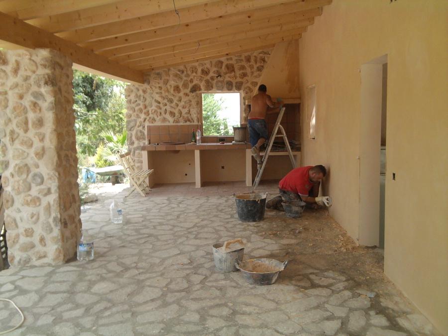 Foto construccion barbacoa en porche de aires de lloseta - Construccion barbacoa ...