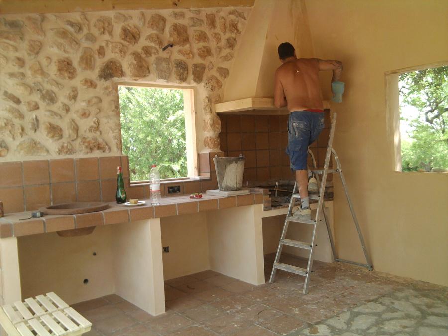 Foto construccion barbacoa de aires de lloseta s l - Construccion barbacoa ...