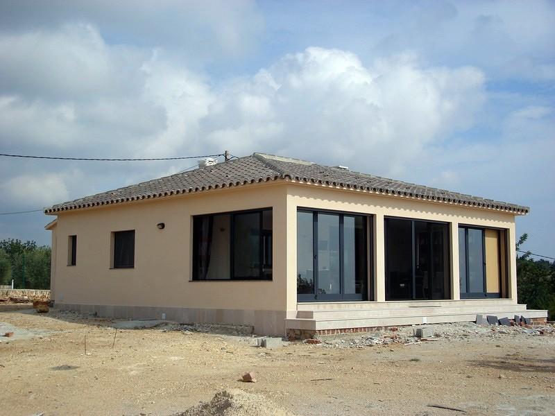 Construcción chalet estilo moderno