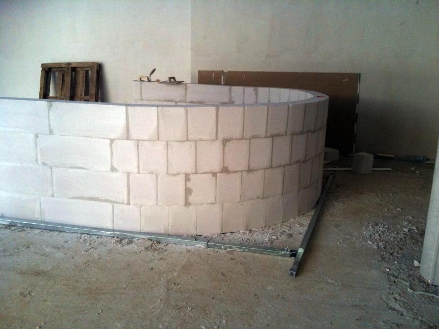 Foto bloque hormig n celular de dbs construcciones for Construccion de piscinas con bloques