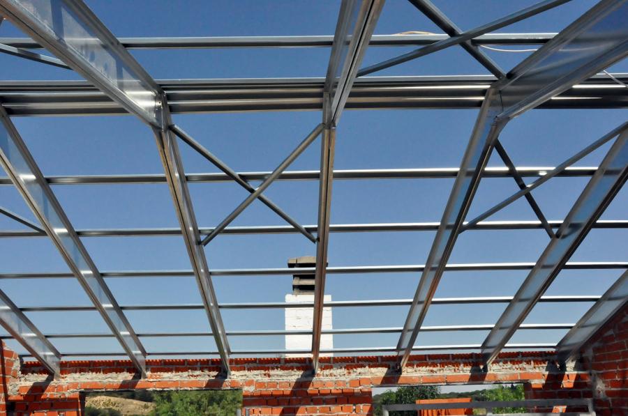 Construcción de una cubierta aligerada