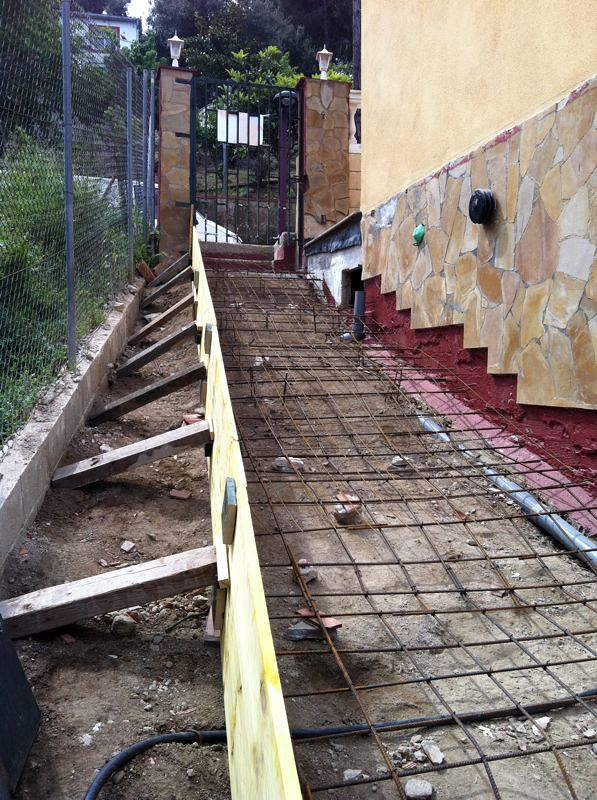 Foto Construccion Escalera Exterior De Construcciones