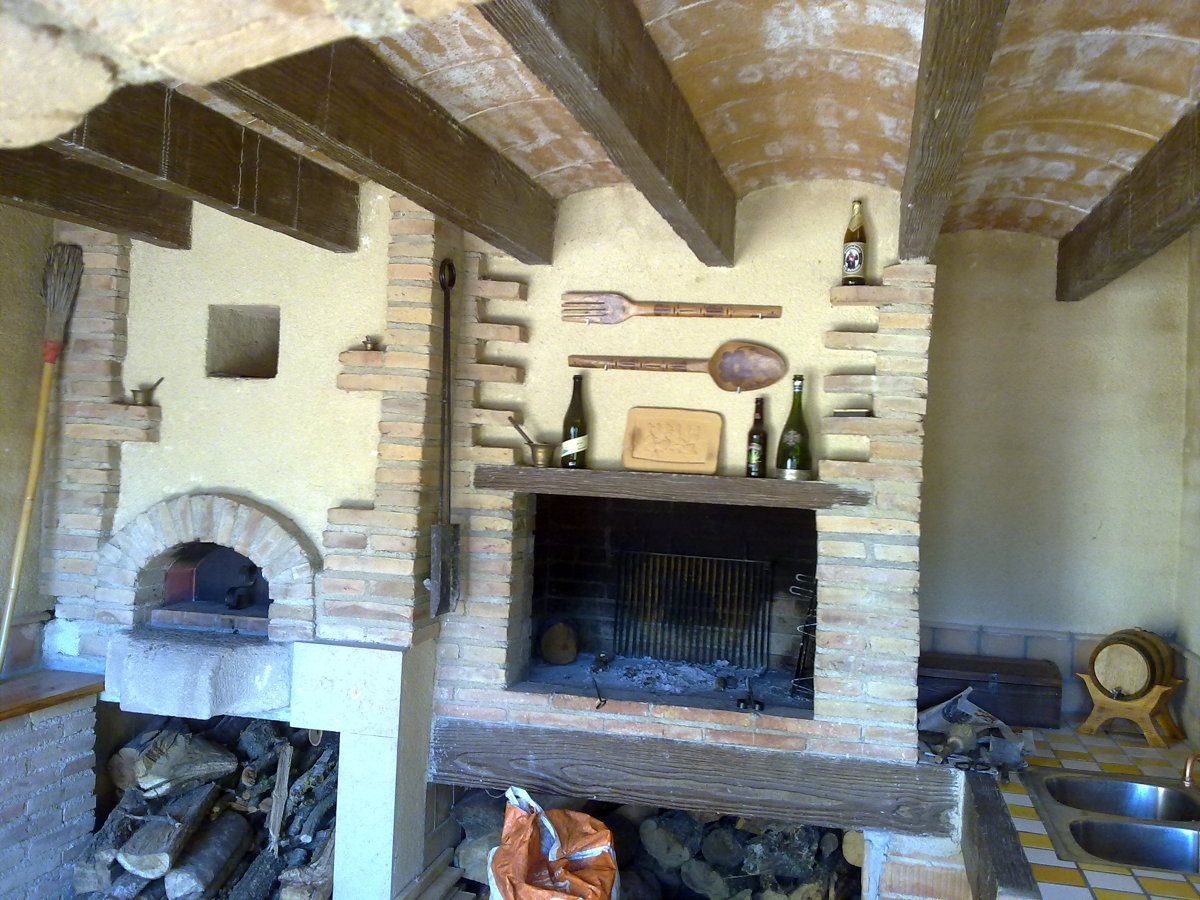 Foto construcci n porche con barbacoa y horno de le a de constru llars anoia 177825 habitissimo - Horno de lena y barbacoa ...