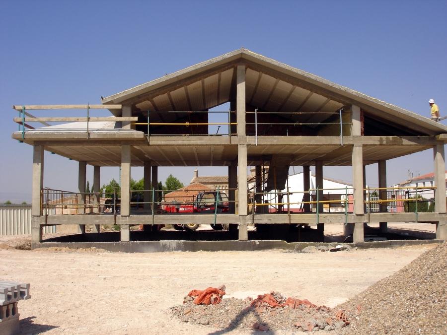 Construyendo la estructura de una vivienda unifamiliar
