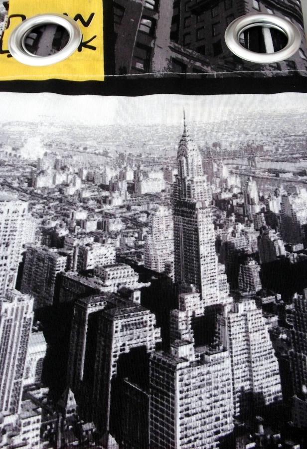 Cortina Confeccionada Ollado Niquel Mate New York