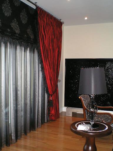 Foto cortina seda y estor con pluma de ceresi cortinas - Estor con cortina ...