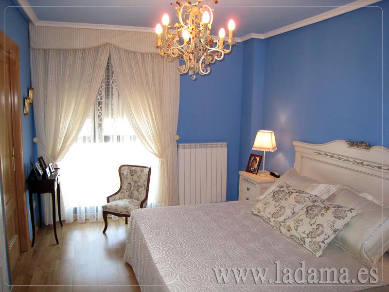Foto cortinas y colchas para dormitorios cl sicos de la - Cortinas para dormitorio juvenil ...
