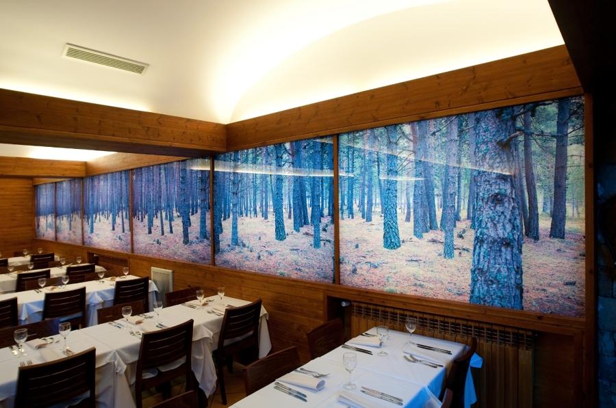 Foto cristal con vinilo en restaurante de cloustek - Cristal con vinilo ...
