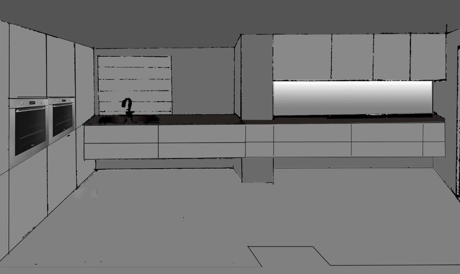 Croquis propuesta diseño cocina