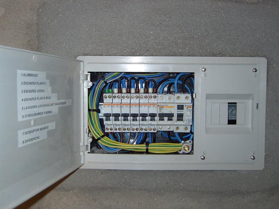 Foto cuadro el ctrico vivienda unifamiliar de for Precio instalacion electrica piso 90 metros