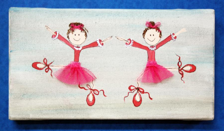 Foto cuadro infantil de bailarina de - Cuadros bailarinas infantiles ...