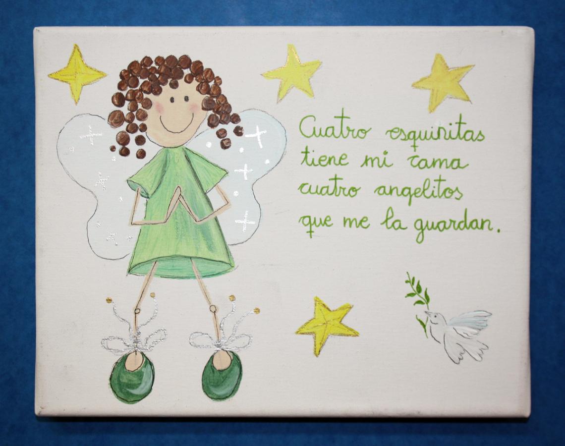 Foto cuadro infantil pintado a mano de cuatro esquinitas - Cuadros pintados a mano online ...