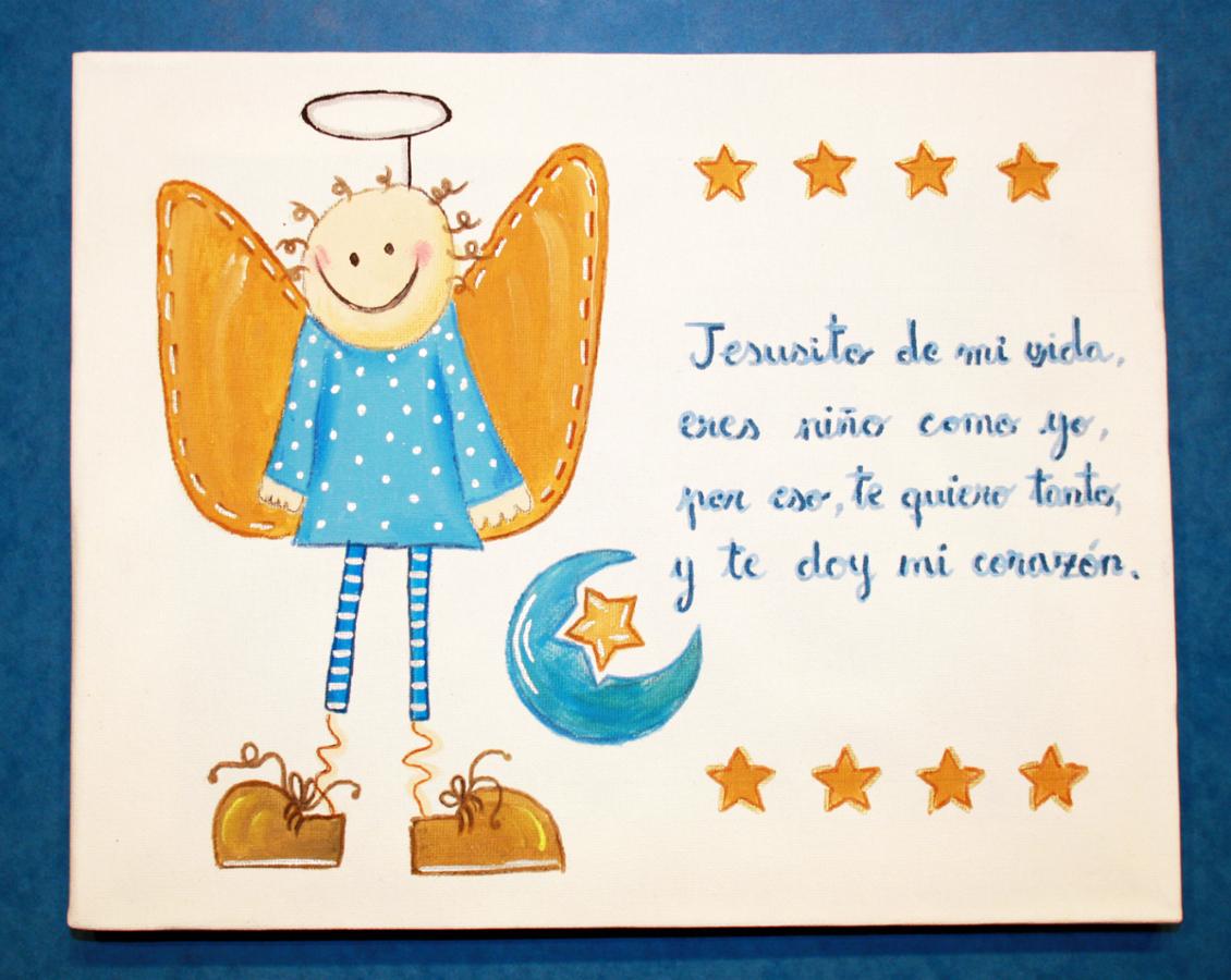 Foto cuadro infantil pintado a mano de jesusito de mi - Cuadros pintados a mano online ...