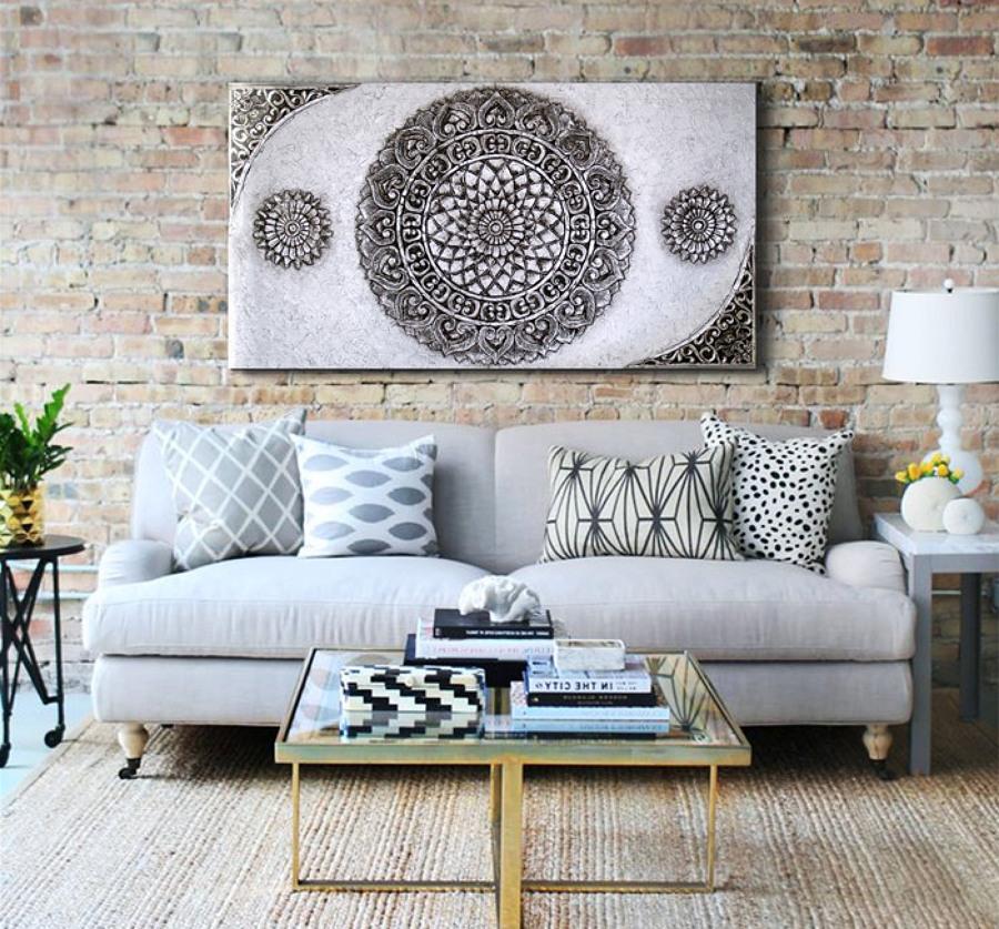 Foto cuadro mandala grande de estudiodelier 894814 for Decorar salon con cuadros grandes