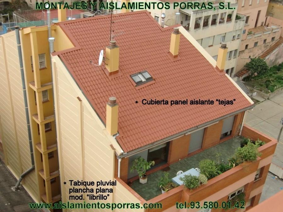 Foto cubierta aislante de panel termico tejas de for Panel aislante termico