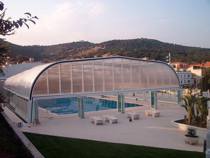 Foto cubierta de piscina de cubiertas de piscina acmsa for Piscina cubierta zaragoza