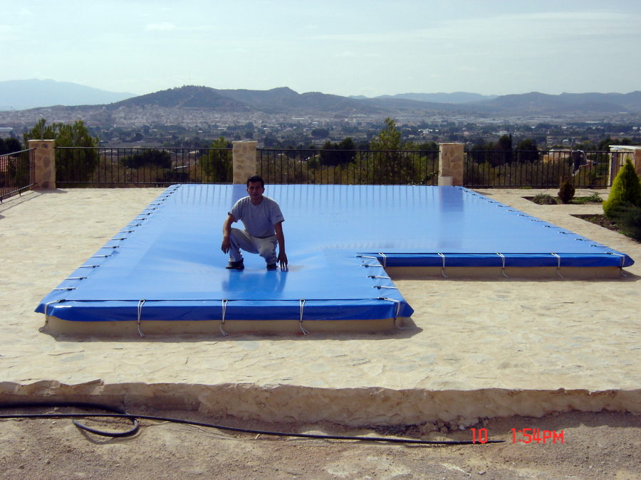 Foto cubierta de piscina de toldos yecla 322913 for Piscina cubierta zaragoza