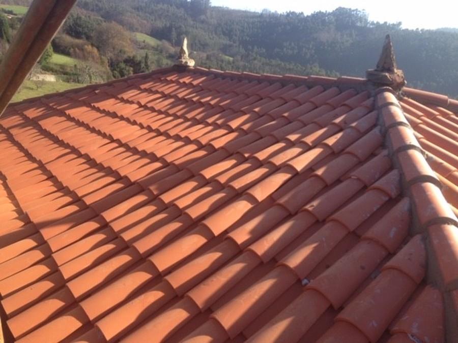 cubierta con teja curva