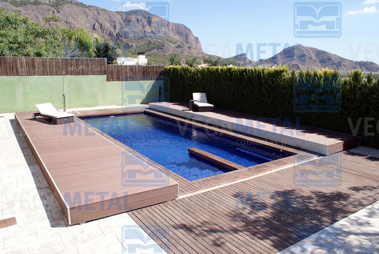 Foto cubiertas para piscinas de vegametal cubiertas for Cubierta de piscinas precios