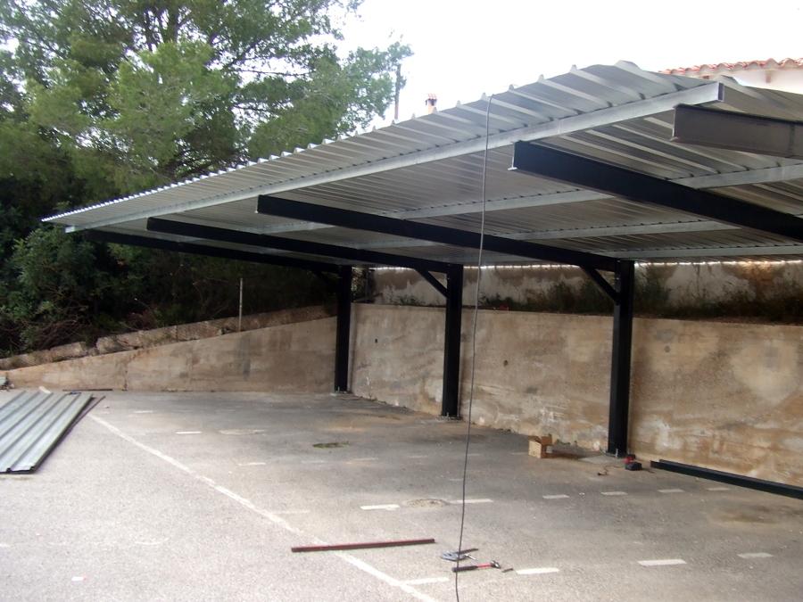 Foto cubiertas parking de carpinteria metalica garrido for Cubiertas para garajes