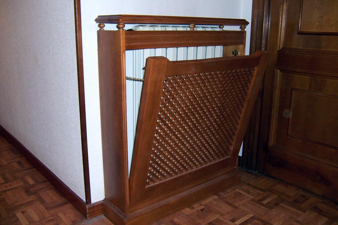 Foto cubre radiador con frente de celos a de la alacena - Muebles para cubrir radiadores ...