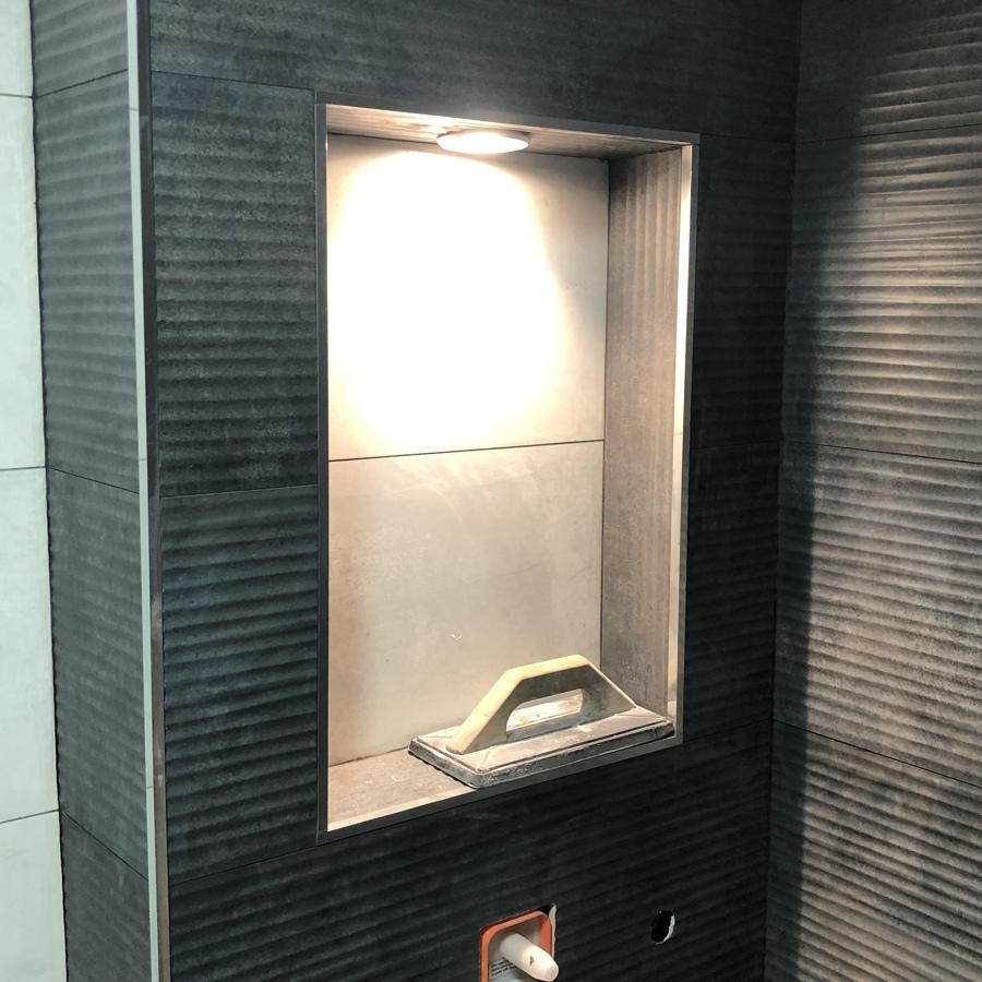 Orna una de ducha iluminada