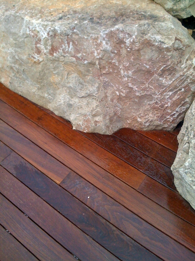 Detalle acabado madera