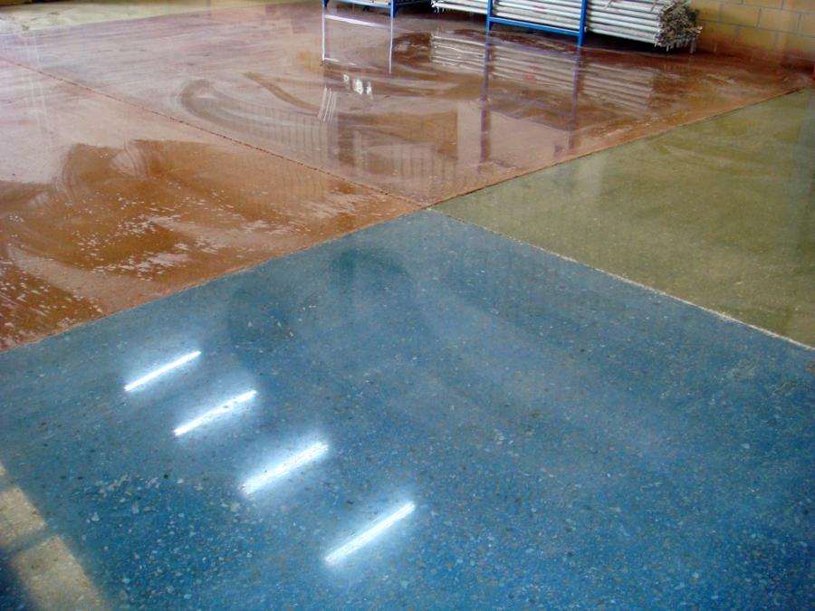 Foto detalle colores en hormig n pulido en seco de - Hormigon pulido para interiores ...