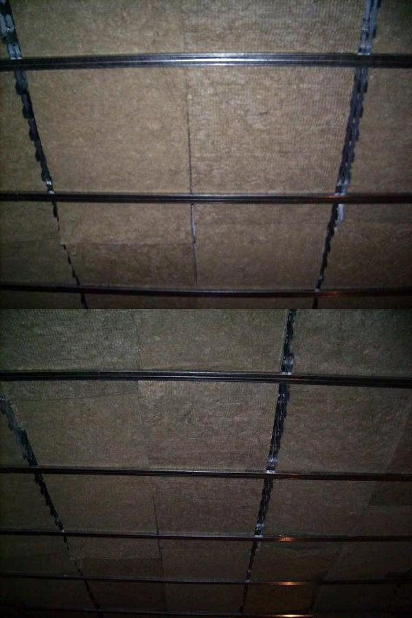 Detalle de techo con Lana de roca