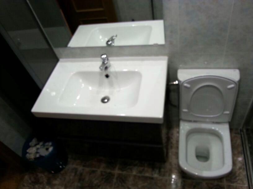 detalle lavabo colocado