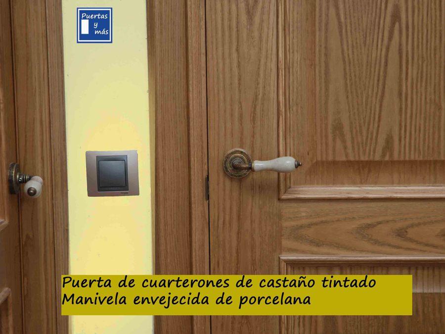 DETALLE MANIVELA RUSTICA DE PORCELANA