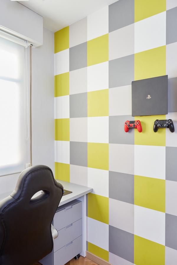 """Diseño y Ejecución de Dormitorio Juvenil """"A Cuadros""""  (Madrid)"""