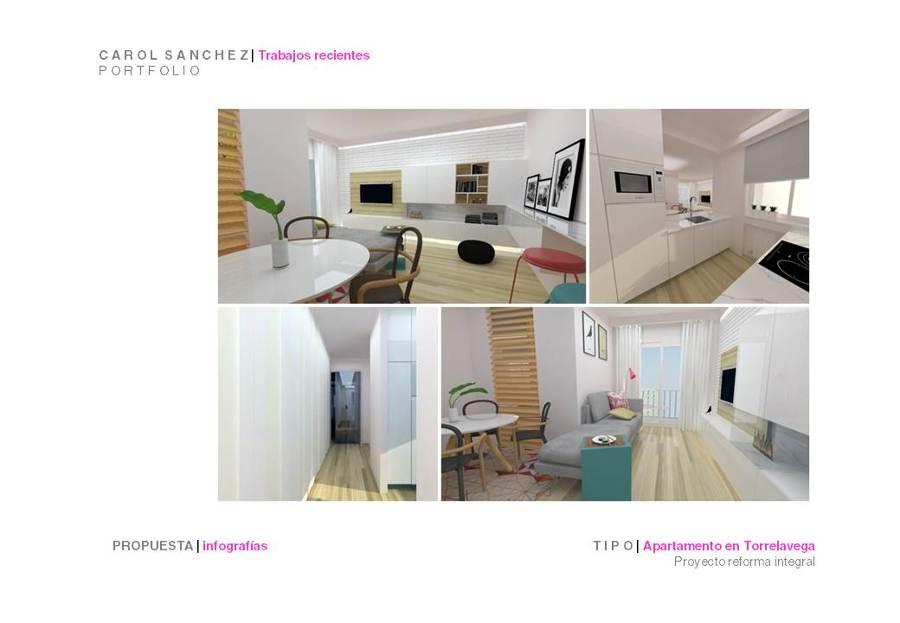 Propuesta de cocina para apartamento en Torrelavega