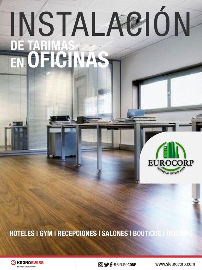 Colocación de suelos laminados en Oficinas