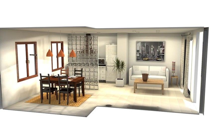Foto: Diseño 3D Salón, Cocina y Comedor de Coreal Reformas E ...