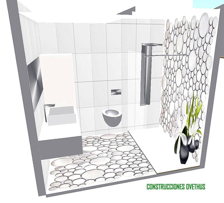 Diseño de baño para reforma en Gijon