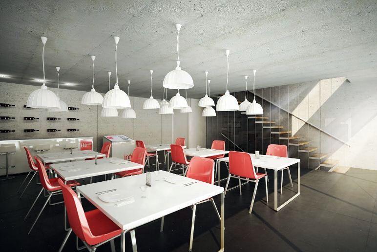Foto dise o de interiores cafeteria la moderna de rasl for Disenos para cafeterias