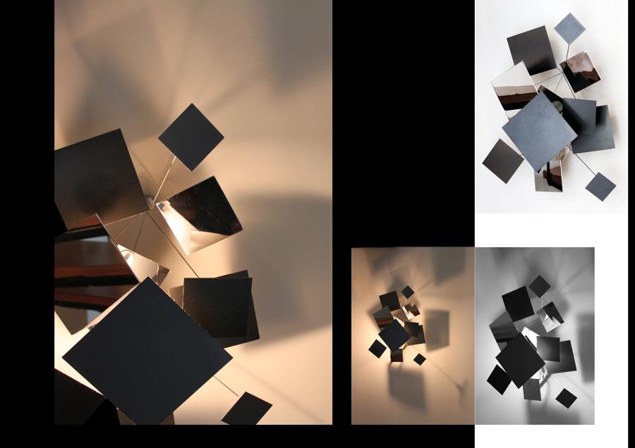 Diseño de luminaria. Sombra cubo