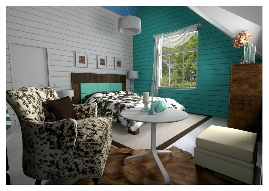 diseño dormitorio, vista general