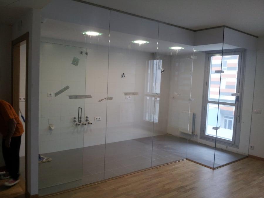foto divisiones de cocina y sala de construcciones y