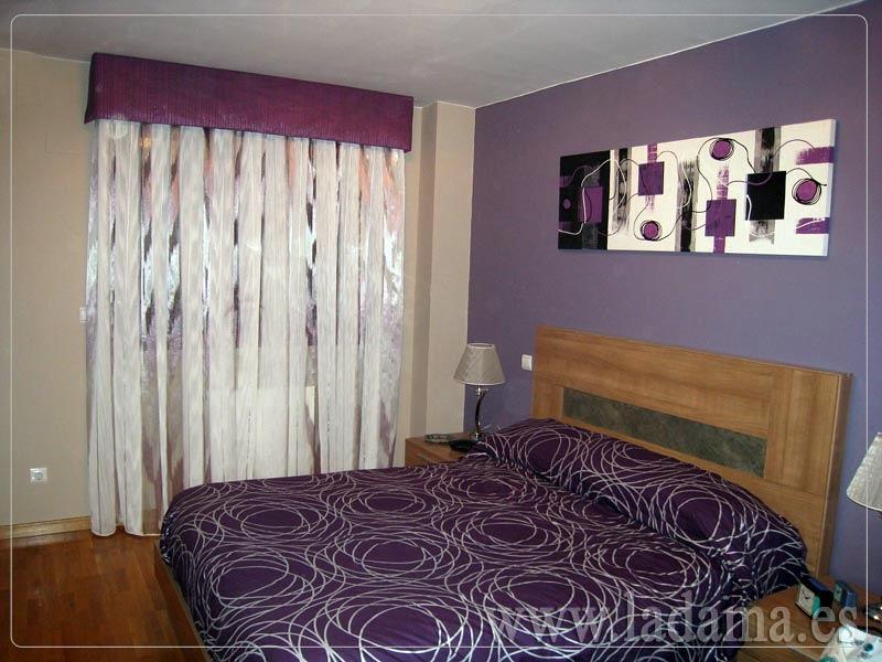 Foto dormitorio actual en lilas de la dama decoraci n for Lo ultimo en cortinas para dormitorios