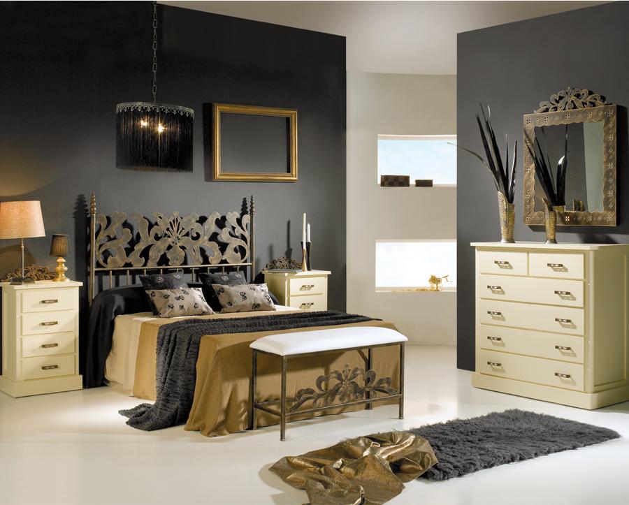 Dormitorio ALEXIA con cabecero de cama en forja