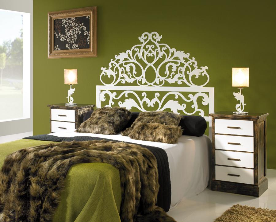 Dormitorio DAYRA con cabecero de cama en forja