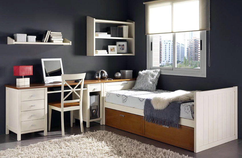 Foto dormitorio juvenil cama nido de for Dormitorio juvenil cama nido