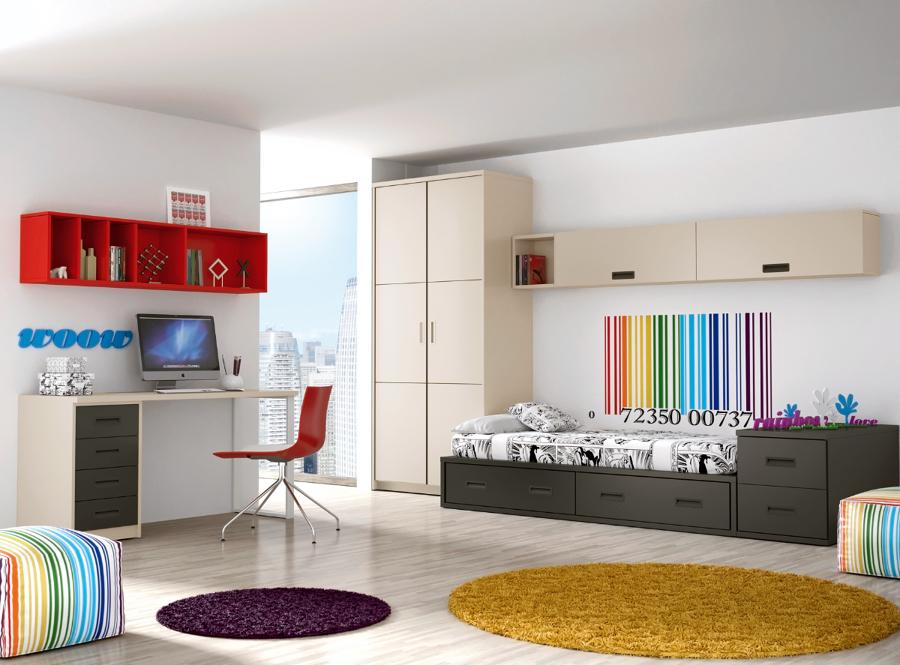 Foto dormitorio juvenil de muebles paco caballero 386552 - Muebles paco caballero ...