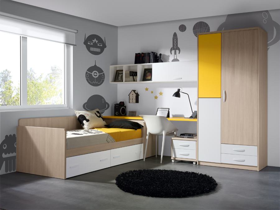 Foto dormitorio juvenil de muebles paco caballero 386553 for Muebles paco caballero
