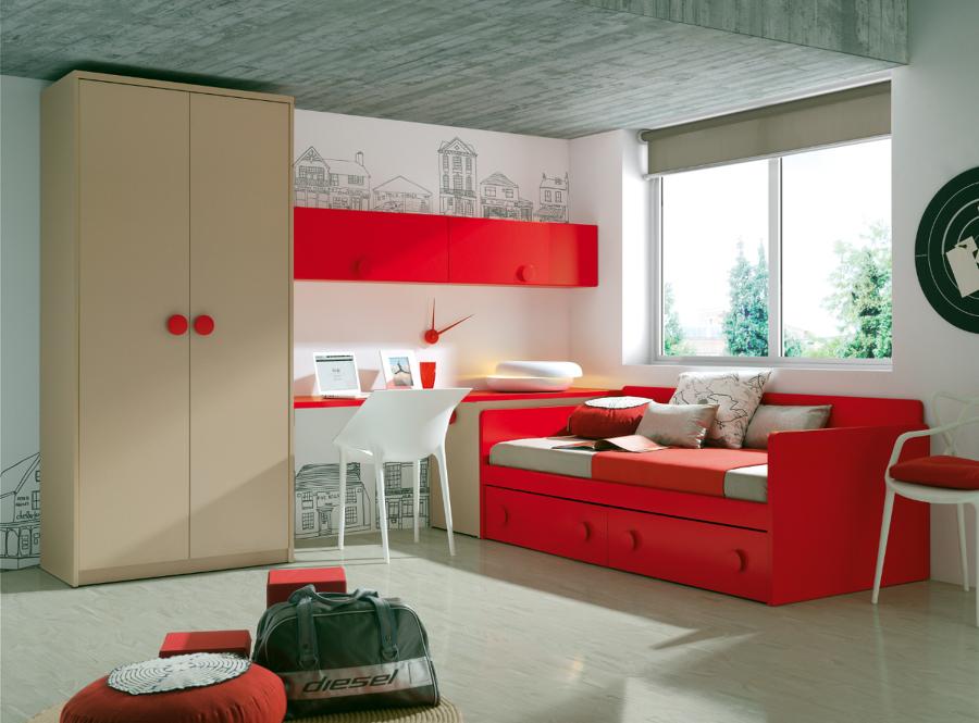 Foto dormitorio juvenil de muebles paco caballero 386557 for Muebles rey zamora