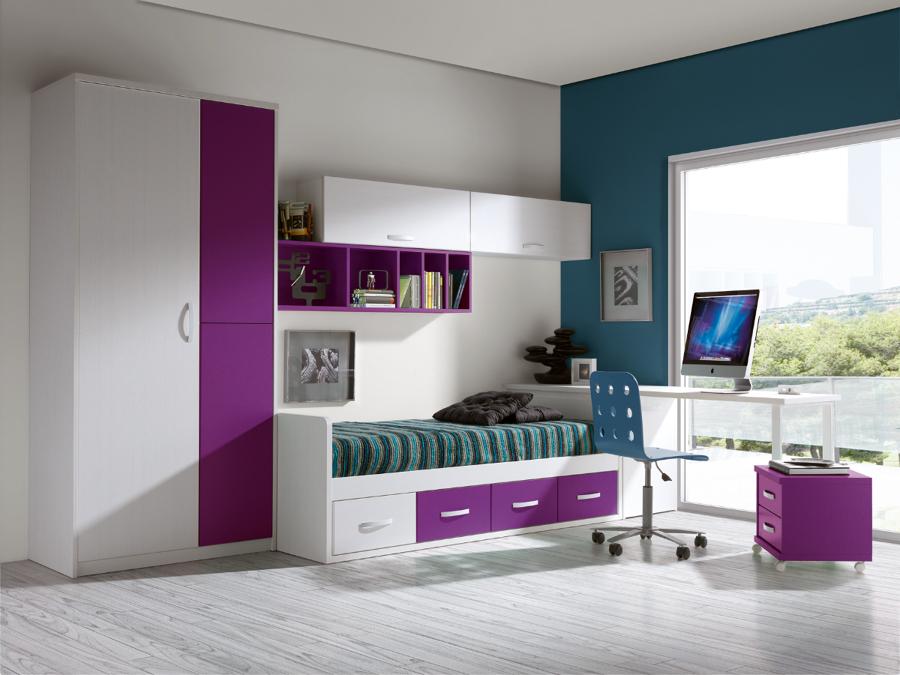 Foto dormitorio juvenil de muebles paco caballero 386561 for Dormitorios juveniles modernos precios