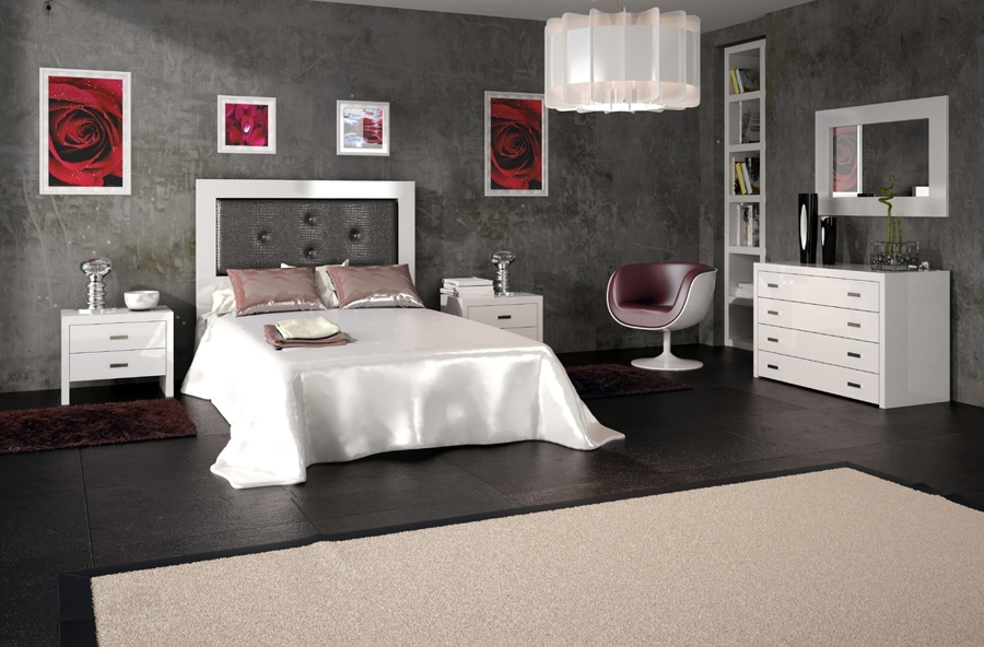 Foto: Dormitorio Marsella con Cabecero de Cam de Madera y ...