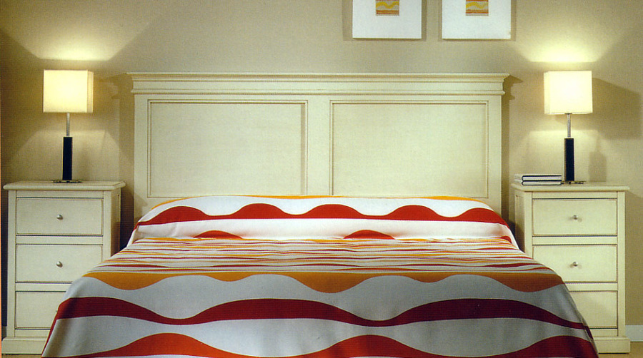Foto dormitorio matrimonio cabecero recto cornisa de - Dormitorios matrimonio muebles la fabrica ...